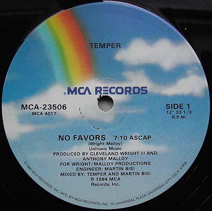 Temper - No Favors