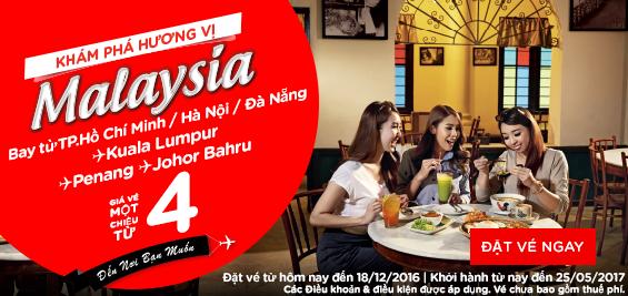 Du lịch khám phá Malaysia cùng Air Asia giá chỉ từ 4 USD