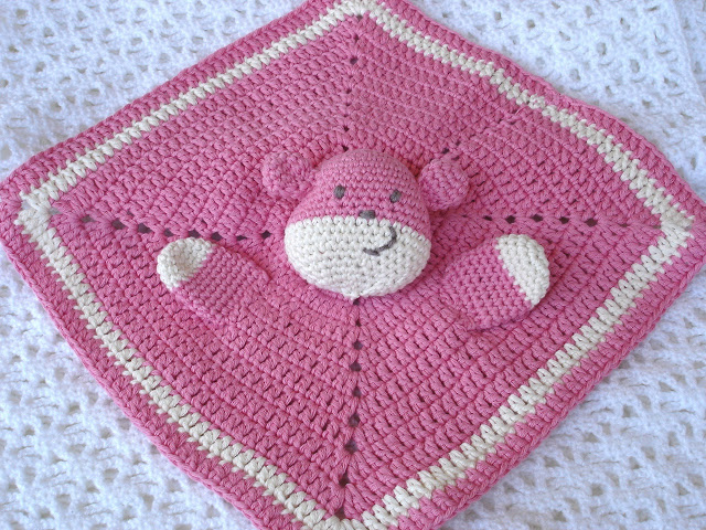 Eccezionale Copertine ad Uncinetto: Copertina neonato teddy doudou RX58