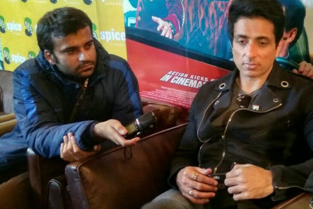 Film Critic Murtaza Ali Khan interviewing Sonu Sood