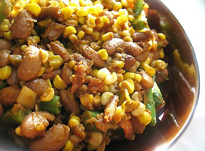 pinto bean vegetable succotash