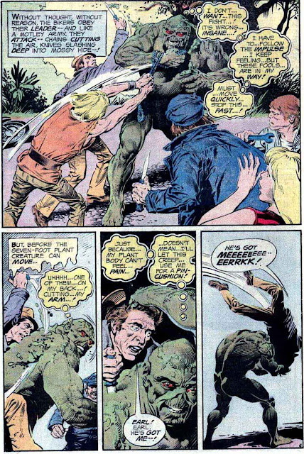 Swamp Thing v1 #20 1970s bronze age dc comic book page art by Nestor Redondo