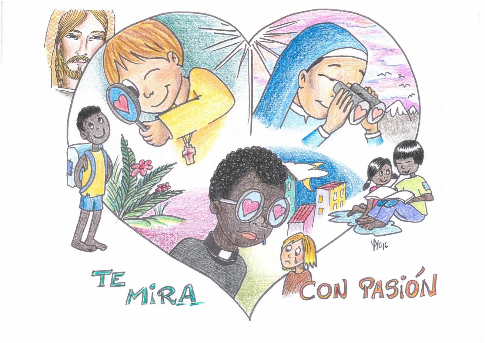 """Dibujos De Las Misiones: """" TE MIRA CON PASIÓN""""."""