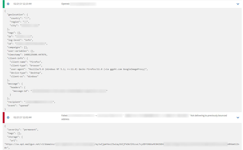mailgun log 概覽