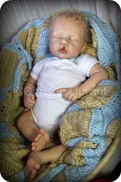 Christie Durant baby doll with cleft lip