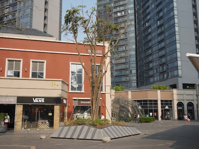 supported tree at the Midtown in Zhuhai