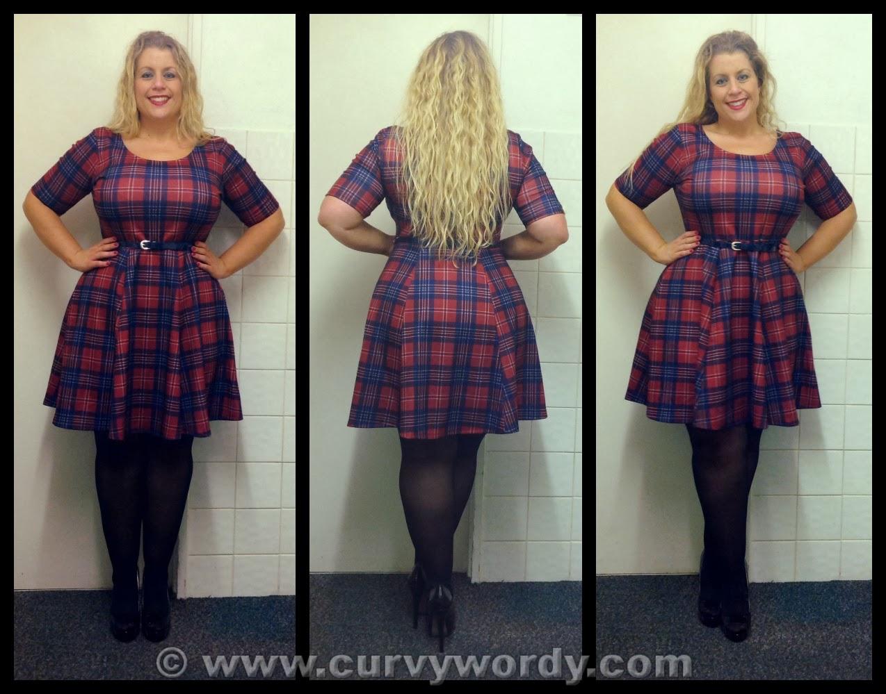 2ece6e132d587 Pink Clove Tartan Skater Dress 18 - Curvy Wordy