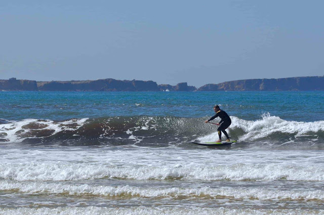 SUP surfing Baleal by boardBORN