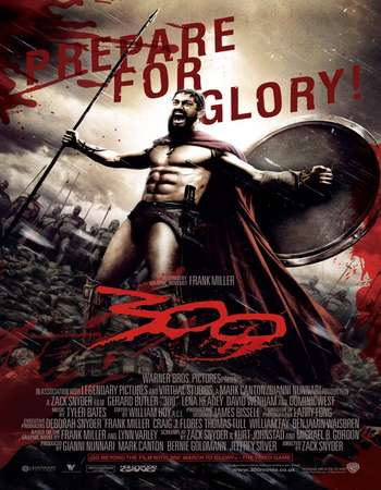 Poster Of 300 2006 Hindi Dual Audio 350MB BRRip 480p ESubs Free Download Watch Online downloadhub.net