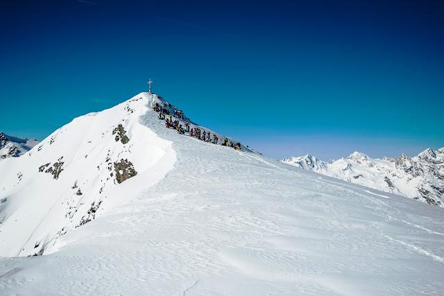 Gipfel linker Fernerkogel Rennen