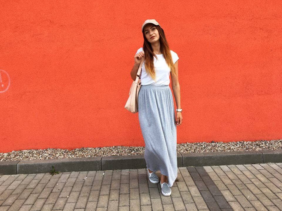 Beauty Fashion Lifestyle Gray Maxi