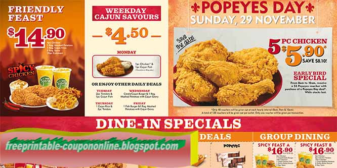 Popeyes printable coupons april 2018