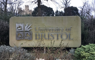 Pic of University of Bristol sign on campus