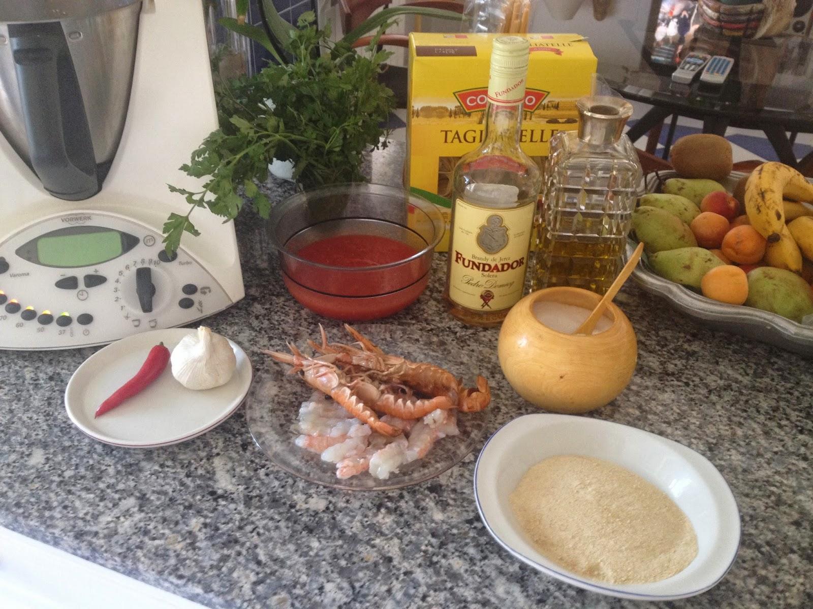 Cocina con alma cigalas con tallarines frescos - Cocina con alma ...