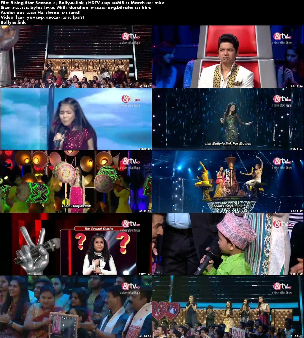 Rising Star Season 2 HDTV 480p 300MB 11 March 2018 Download