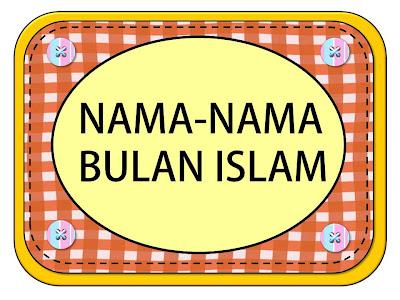 GENIUS KIDS ZONE Nama bulan Islam