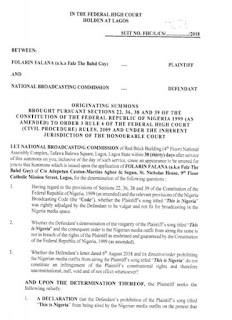 Falz drags NBC to court for banning his song, This is Nigeria
