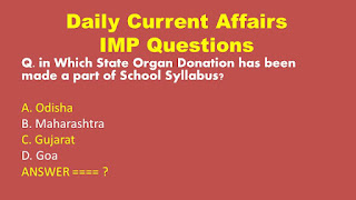 Daily Current Affairs Important Questions for Railway Group D Exams