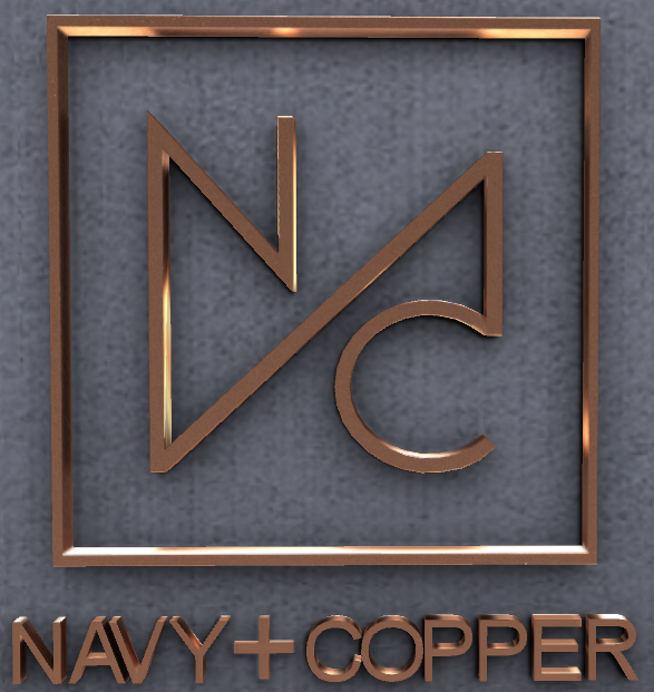 Navy + Copper