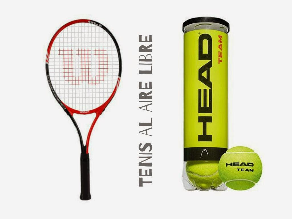 raqueta de tenis wilson, pelotas de tenis head team
