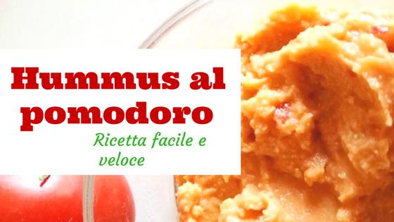 hummus di ceci al pomodoro ricetta facile veloce