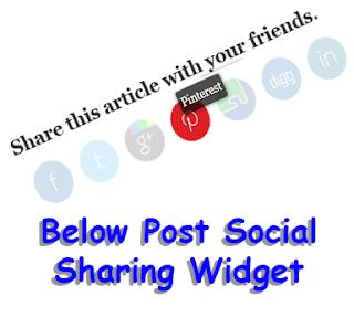 This is a Below Post Social Sharing Widget Below Post Social Sharing Widget for Blogger