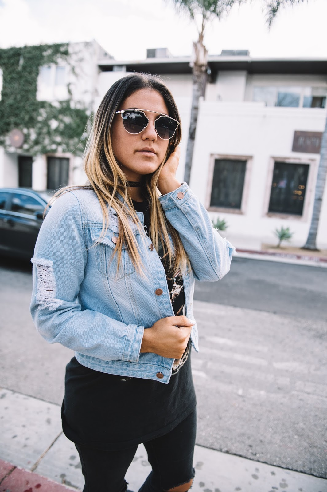 Ripped Denim Jacket -- Taylor Winkelmeyer of My Cup of Chic