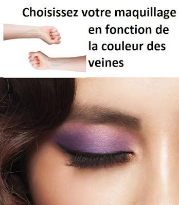 Choisissez votre maquillage en fonction de la couleur des veines