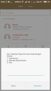 Cara Daftar Paket Extra Kuota Telkomsel 2GB Rp 0