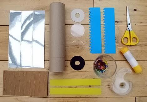 Materiales para caleidoscopio
