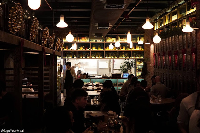 Dining Area at Osamil in New York City