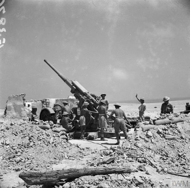 3.7-inch anti-aircraft gun in the Western Desert 27 June 1941 worldwartwo.filminspector.com