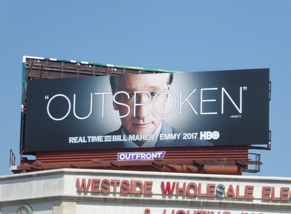 Real Time Bill Maher Outspoken 2017 Emmy billboard
