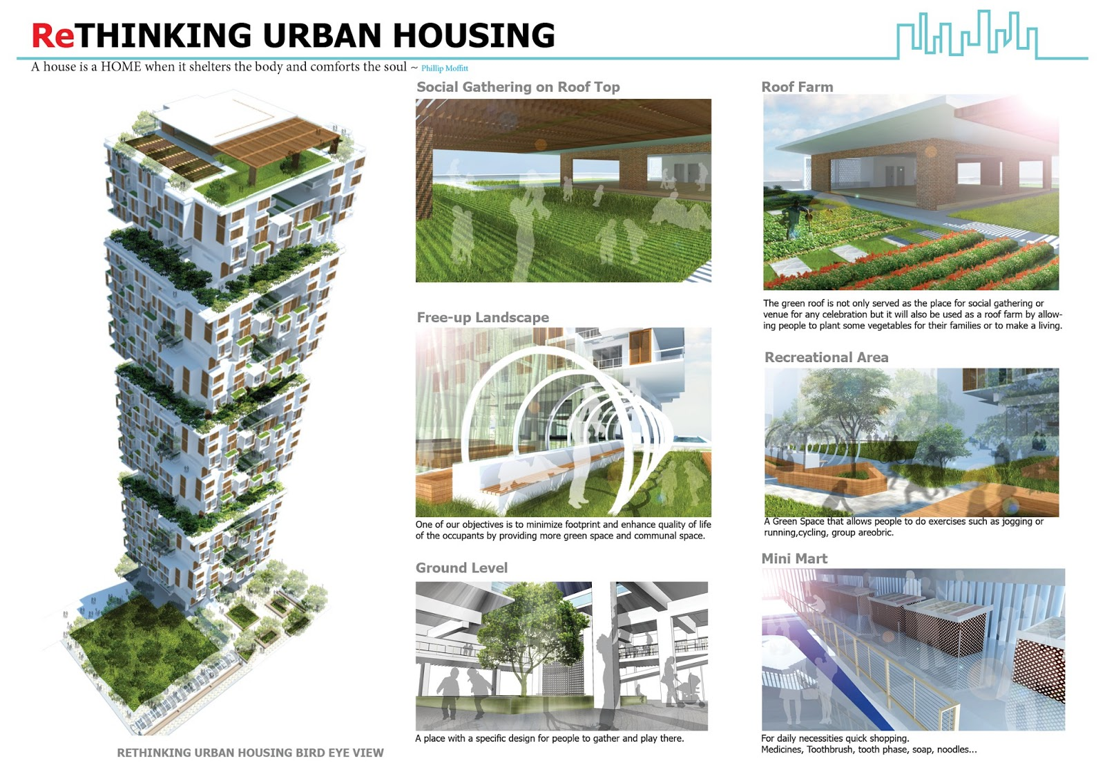 Roof Design Ideas: Arts & Architecture: ReThinking Urban Housing ( Archiprix