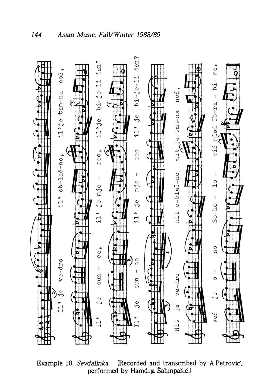 sevdalinke  ankica petrovi u0107  paradoxes of muslim music in boznia and herzegovina  asian music
