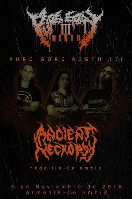Afiche Concierto #MetalColombiano Banda de metal De medellín