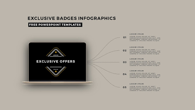 Infographic Badges Free PowerPoint Template for Special Offers Slide 3