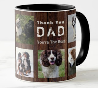thank you dad photo collage mug husband