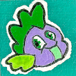 Spike Canvas Mini Canvas Magnet / Pin