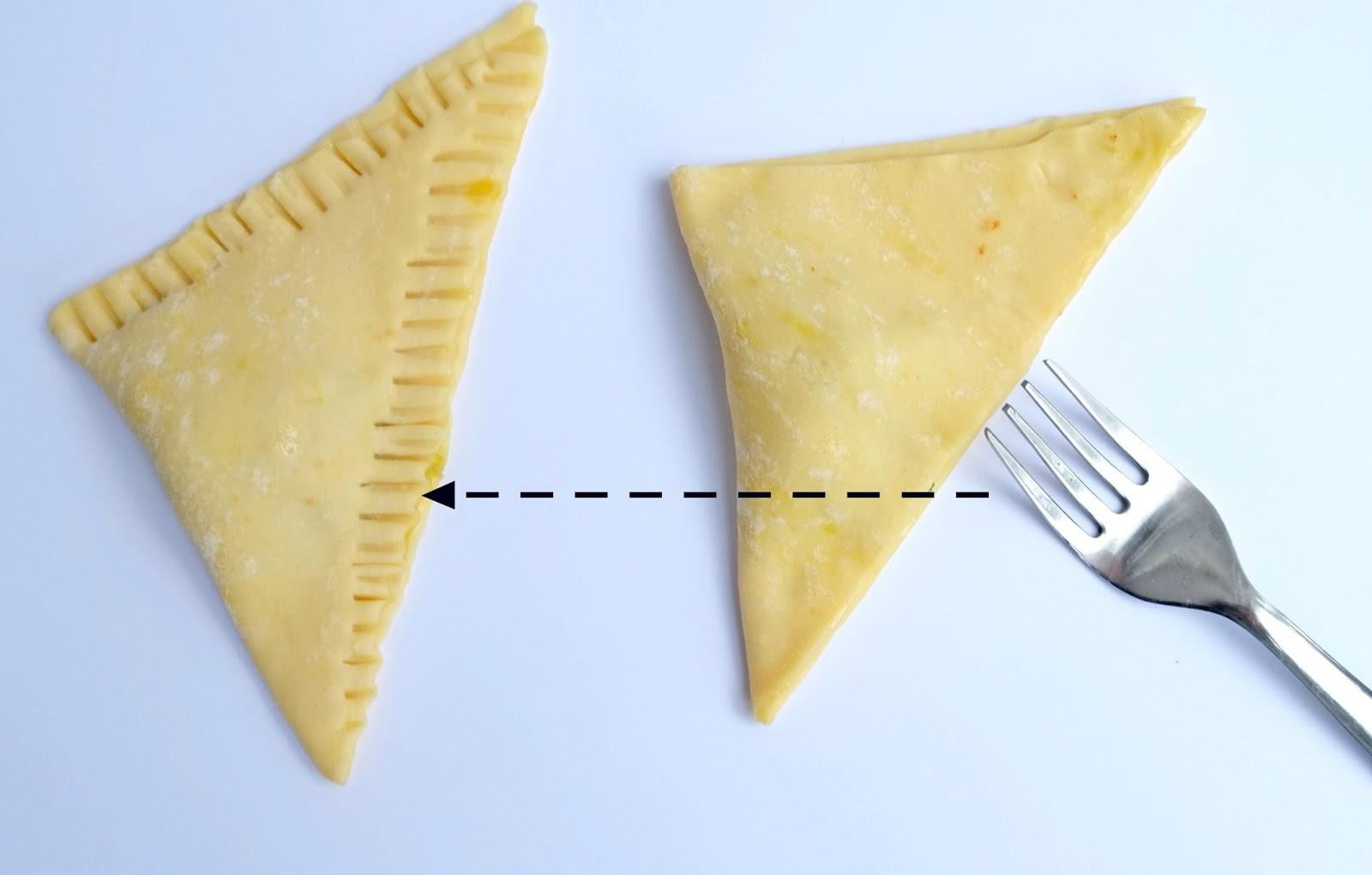Driehoek bladerdeeg met Italiaanse smaak - Hartige hapjes.