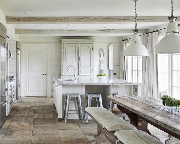 Dos cocinas blancas y rusticas decoraci n - Cocina rustica moderna ...