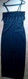 vestido longo preto M