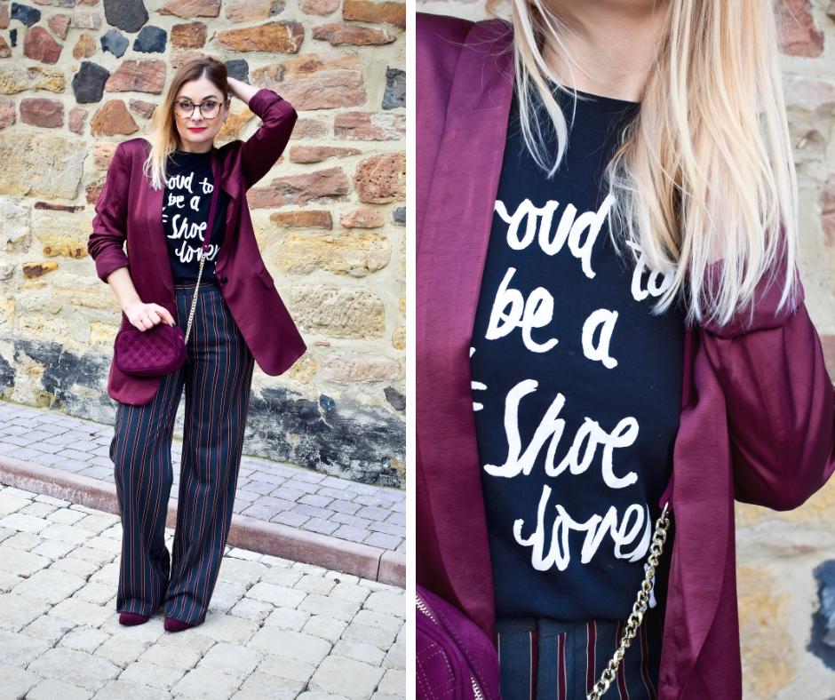 Modeblog für Frauen ab 40, Blazer und T-Shirt im Büro