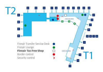 Mapa de Aeropuerto de Helsinki-Vantaa