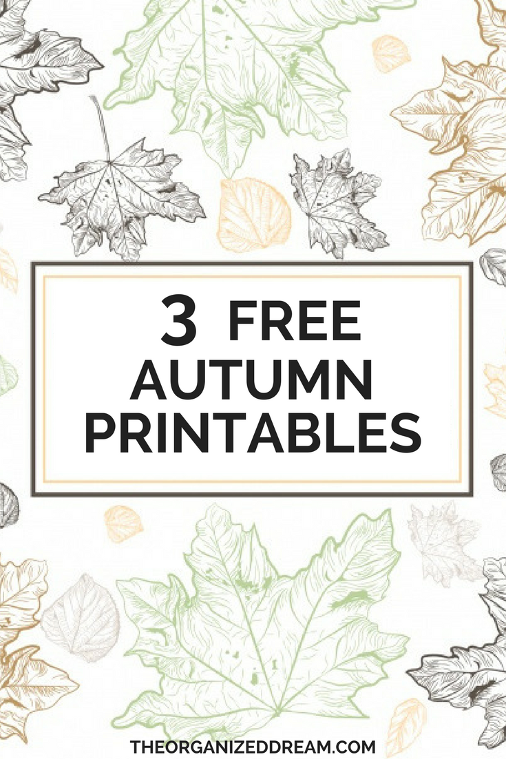 Free printables for fall.