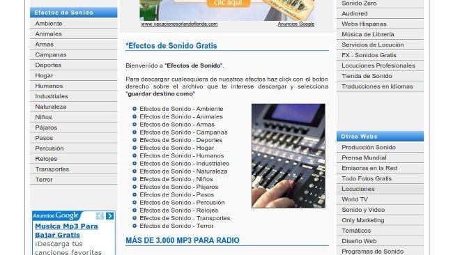 Todo gratis programas freeware: páginas de efectos de sonido gratis.