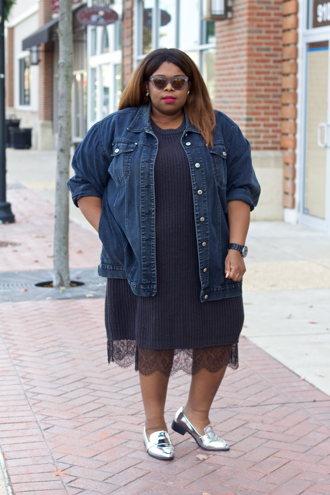 thrift plus size style blogger