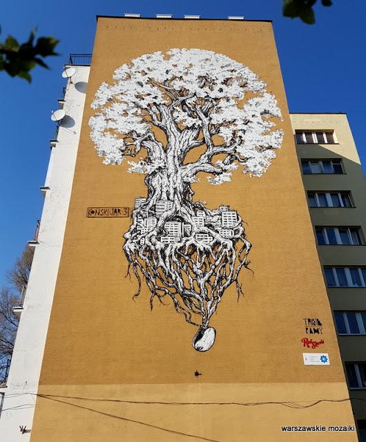 Warszawa Warsaw Ursynów Koński Jar graffiti blok