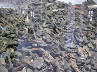 Shoes worn by victims of Auschwitz