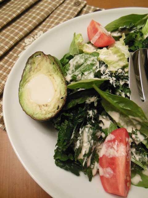 Julia's Caesar Salad Dressing, homemade and delicious, serve over mixed greens,